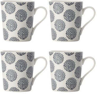 Maxwell & Williams Indigo Four-Piece Straight Porcelain Mug Set