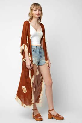 Elizabeth Gillett Tie Dye Hi Lo Kimono