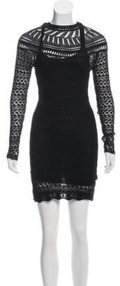 Isabel Marant Scalloped Open Knit Dress Black Scalloped Open Knit Dress