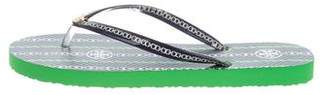 Tory Burch Printed Flat Sandals w/ Tags