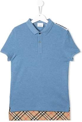 Burberry hammond panelled polo shirt