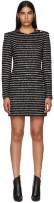 Balmain Black and White Striped Dress