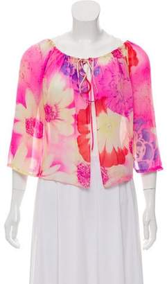 Ungaro Silk Floral Motif Blouse