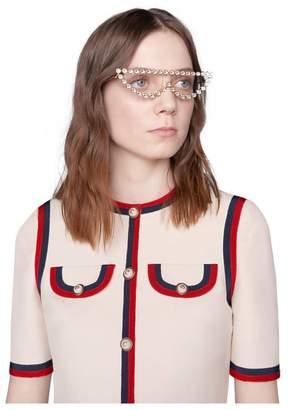 Gucci Wool silk dress with Web