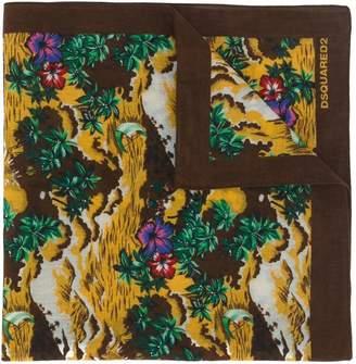 Hawaii print scarf