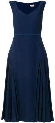 Fendi flared pleated midi dress