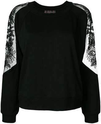 Ash lace-panelled sweatshirt