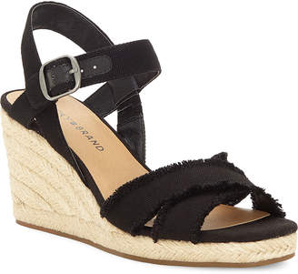 Lucky Brand Black Margaline Wedge Espadrille Sandals