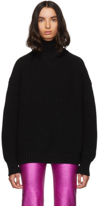 MSGM Black Oversized Turtleneck