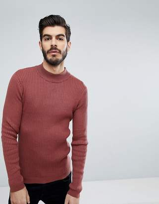Brave Soul Rib Turtleneck Sweater