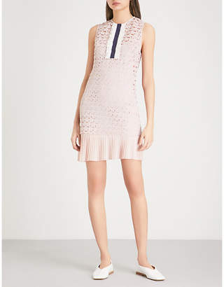 Sandro Embroidered-lace dress