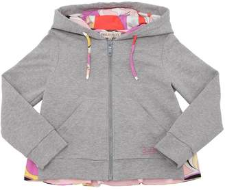 Emilio Pucci Zip-Up Cotton Sweatshirt Hoodie