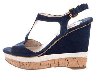 Prada T-Strap Platform Sandals