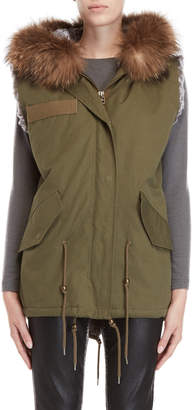Equipment Love Token Real Fur Lined-Military Vest
