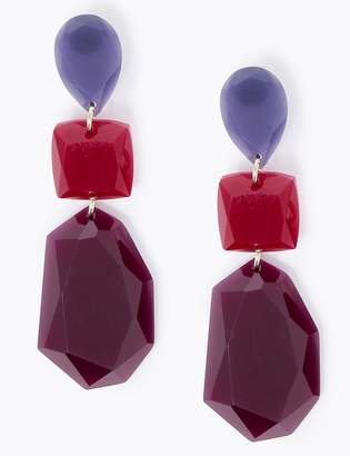 Marks and Spencer Jewel Trio Drop Earrings