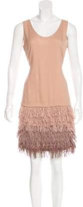 Brunello Cucinelli Silk Fringe-Trimmed Dress