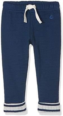 Petit Bateau Baby Boys' Pantalon Trousers, Blue Medieval, (Size 12 Months)