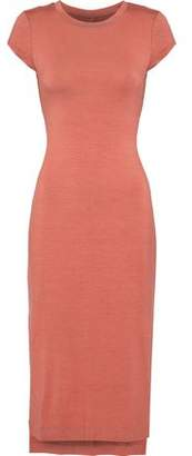 Enza Costa Open-Back Stretch-Jersey Midi Dress