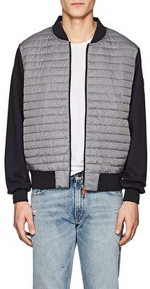 Save The Duck SAVE THE DUCK MEN'S JERSEY-BACK CHANNEL-QUILTED BASEBALL JACKET