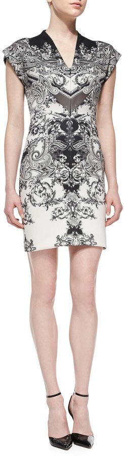Nicole Miller Artelier Short-Sleeve Paisley-Print Sheath Dress