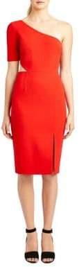 Jill Stuart One-Shoulder Sheath Dress