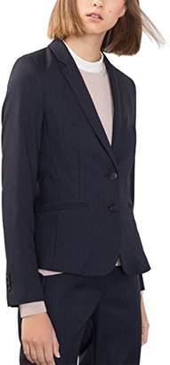 Esprit Women's 996EO1G901 Blazer, Blue (Navy)