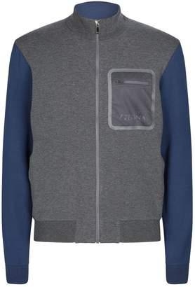 Ermenegildo Zegna Contrast Zip-Up Sweatshirt