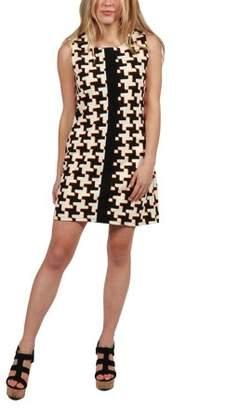24/7 Comfort Apparel 24Seven Comfort Apparel Jolie Bold Print Shift Dress