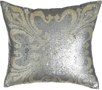 "Callisto Home Sequined Pillow, 22""Sq."