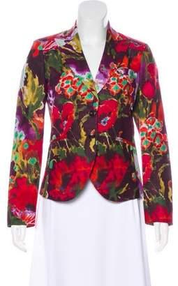 Etro Linen Floral Blazer