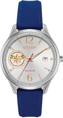 Citizen Marvel by Eco-Drive Unisex Captain Marvel Blue Strap Watch 37mm