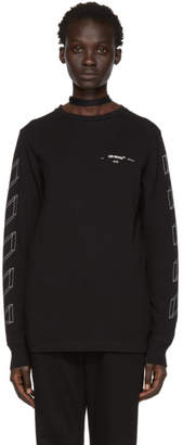 Off-White Off White Black Diag 3D Long Sleeve T-Shirt