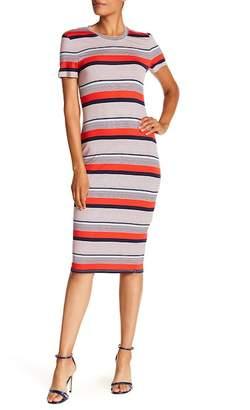 Rachel Roy Chalk Stripe T-Shirt Dress