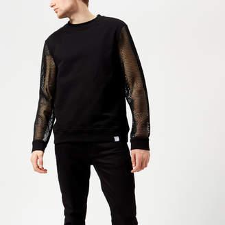 Versace Men's Mesh Sleeve Sweatshirt