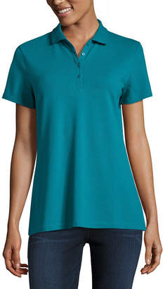 ST. JOHN'S BAY Short Sleeve Knit Polo Shirt