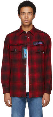 Diesel Black and Red S-Miller Patch Shirt