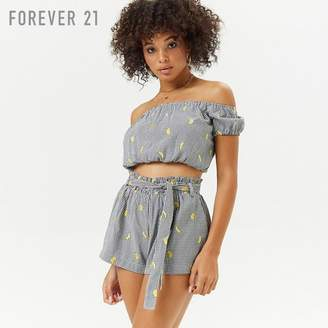 Forever 21 (フォーエバー 21) - Forever 21 ギンガム&バナナショートパンツ