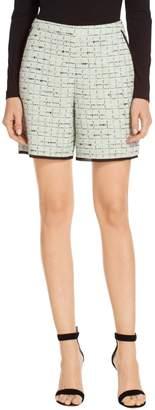 St. John Adriana Multi Tweed Knit Shorts