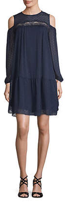 ABS by Allen Schwartz COLLECTION Cold-Shoulder Trapeze Dress