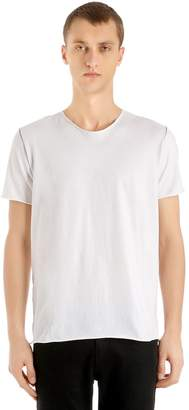 Giorgio Brato Raw Cut Cotton Jersey T-Shirt
