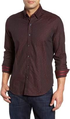 Robert Graham McDermott Tailored Fit Print Sport Shirt