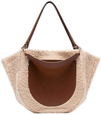 Wandler Mia shearling tote bag