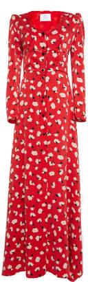 Rebecca de Ravenel Silk Charmeuse Button Front Dress