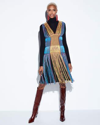 M Missoni Sleeveless Fringe Midi Dress