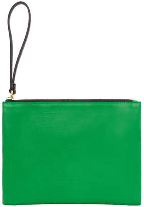 Marni Beige and Green Leather Pouch