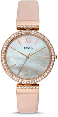 Fossil Madeline Three-Hand Blush Leather Watch