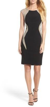 Women's Xscape Beaded Jersey Body-Con Dress $238 thestylecure.com