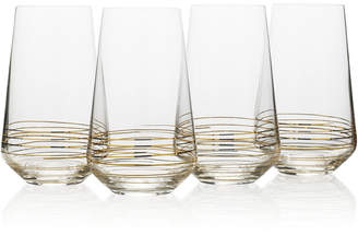 Mikasa Electric Boulevard 4-Pc. Highball Glass Set