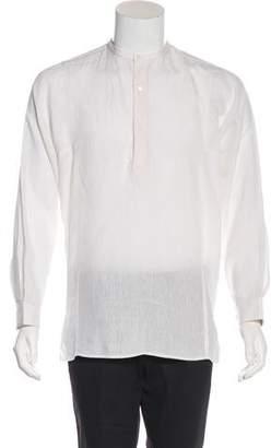 Gucci Linen Henley Shirt
