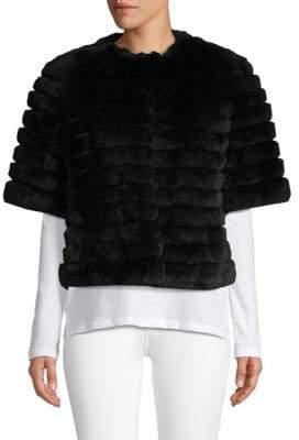 Glamour Puss Short Sleeve Dyed Rabbit Fur Jacket